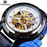Automatic Motorcycle Design Watch Transparent Back Waterproof Skeleton Men 2 Mens Watches