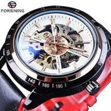 Automatic Motorcycle Design Watch Transparent Back Waterproof Skeleton Men 3 Mens Watches