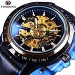 Automatic Motorcycle Design Watch Transparent Back Waterproof Skeleton Men 4 Mens Watches