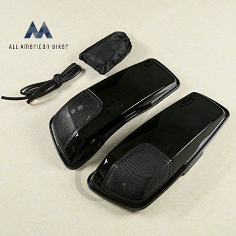 Black Saddlebag Lids 5 X 7 Speaker Cutouts For Harley Touring Road King 2014 2015 2016 2017 2018 All