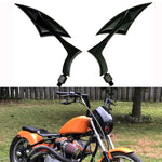 Black Spear Blade Side Aluminum Custom Motorcycle Mirrors 8Mm 10Mm For Harley Davidson Motorcycle