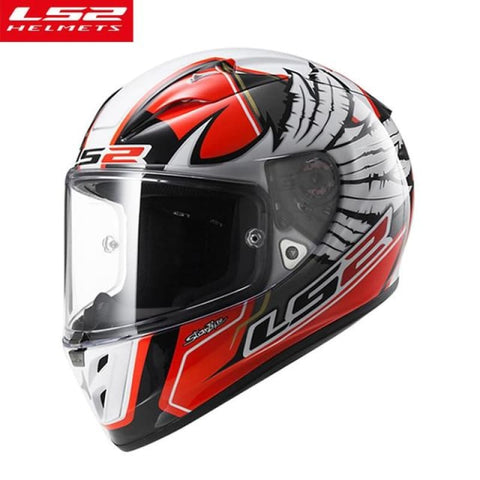 Carbon Fiber Top Racing Full Face Motorcycle Helmet Sports Car Moto Helmets Ls2 Ff323 Red White