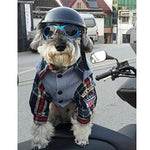 Cool Pet Doggie Motorcycles Bike Helmet Cap Hat For Sun Rain Protection Great Birthday And Christmas