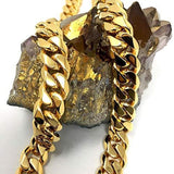 Cuban Link Gold Chain For Men-Real 11Mm 14K Karat Diamond-Cut Heavy W Solid Thick Clasp Made In