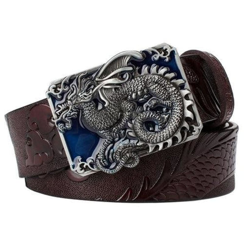 Flying Dragon Leather Belt W/metal Buckle Blown / 100Cm Mens Jackets & Pants