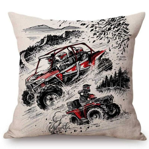 Home Decoration Sofa Throw Pillow Vintage Classic Motorcycle Racing Biker Poster Motorbike Bar