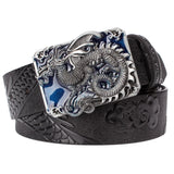 Flying Dragon Leather Belt W/metal Buckle Mens Jackets & Pants