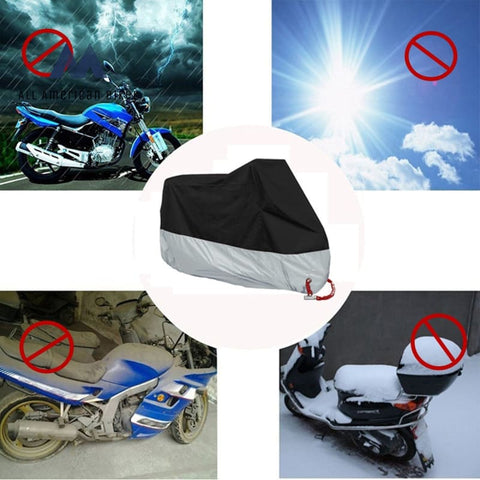 L/xl/2Xl/3Xl/4Xl Motorcycle Cover Waterproof + Storage Pouch Protect Rain Snow Dust Fits For