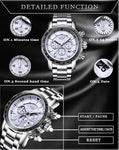 Mens Automatic Waterproof Chronograph Watch Watches