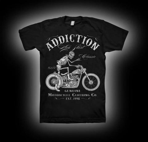 Motorcycle Start V Twin Vintage Rigid Frame T Shirt 1 / S His & Her Tees