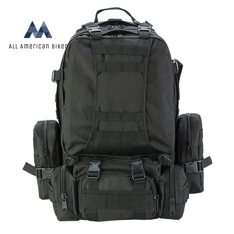 Outdoor Military 50L Rucksack Tactical Backpack Black Pet & Accessories