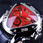 Racing Design Geometric Watch Red Men & Womans Watches
