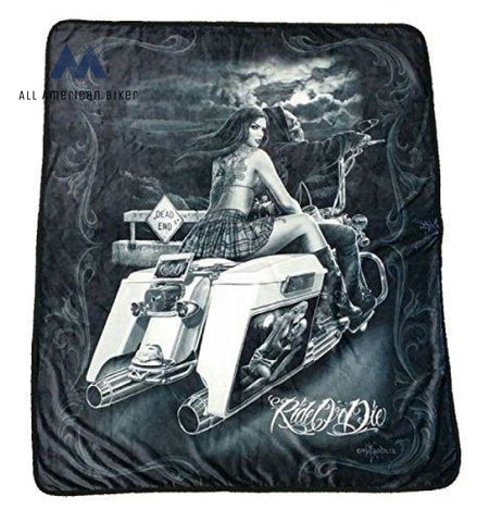 Ride Or Die Dead End High Definition Super Soft Plush Polar Fleece Blanket 50X60 Inches All American
