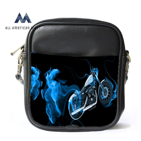 Sling Bag Leather Shoulder Luxury Blue Smoke Motorcycles Anime Helmets
