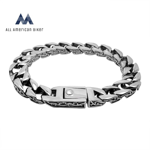 Stainless Steel Thick Mens Bracelet Mens Rings & Chains