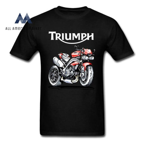Triple Speed 1050 Triumph Motorcycle T-Shirt Black / S His & Her Tees
