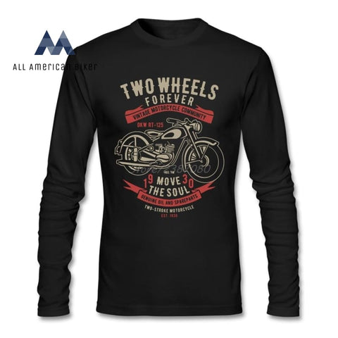 Two Wheels Move The Soul Motorcycle T Shirt His & Her Tees