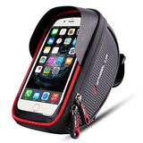 Wallfire Bike Phone Mount Bag Bicycle Frame Handlebar Bags With Waterproof Touch Screen Case All