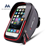 Wallfire Bike Phone Mount Bag Bicycle Frame Handlebar Bags With Waterproof Touch Screen Case Red All