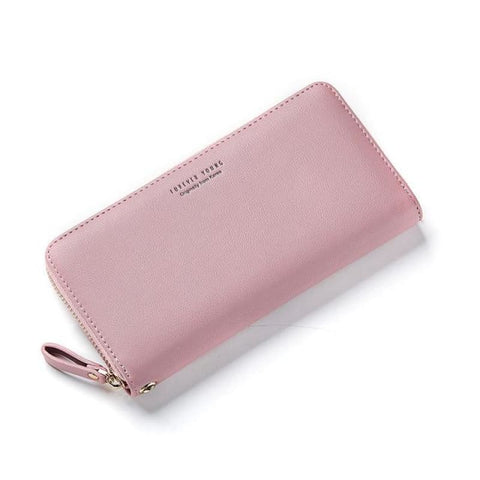 Weichen Wristband Womens Long Clutch Wallet With Large Capacity Pink Womans Bags Eyewear & Wallets
