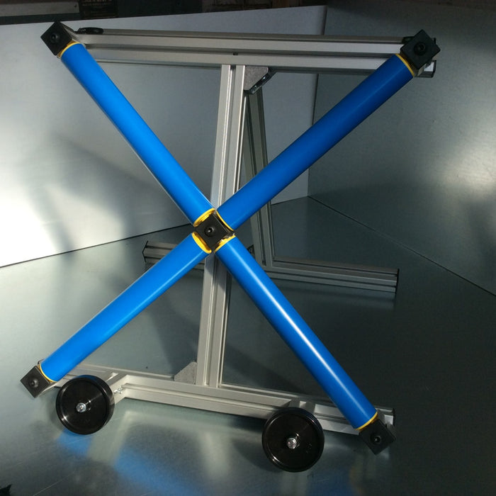Alloy wheel turntable with stand