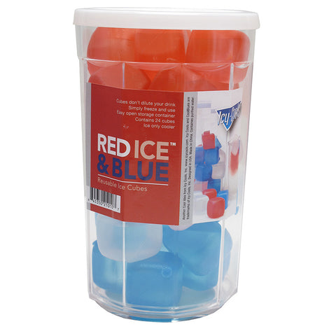 Red Ice Blue Container