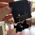 Black Acrylic Texas Earrings
