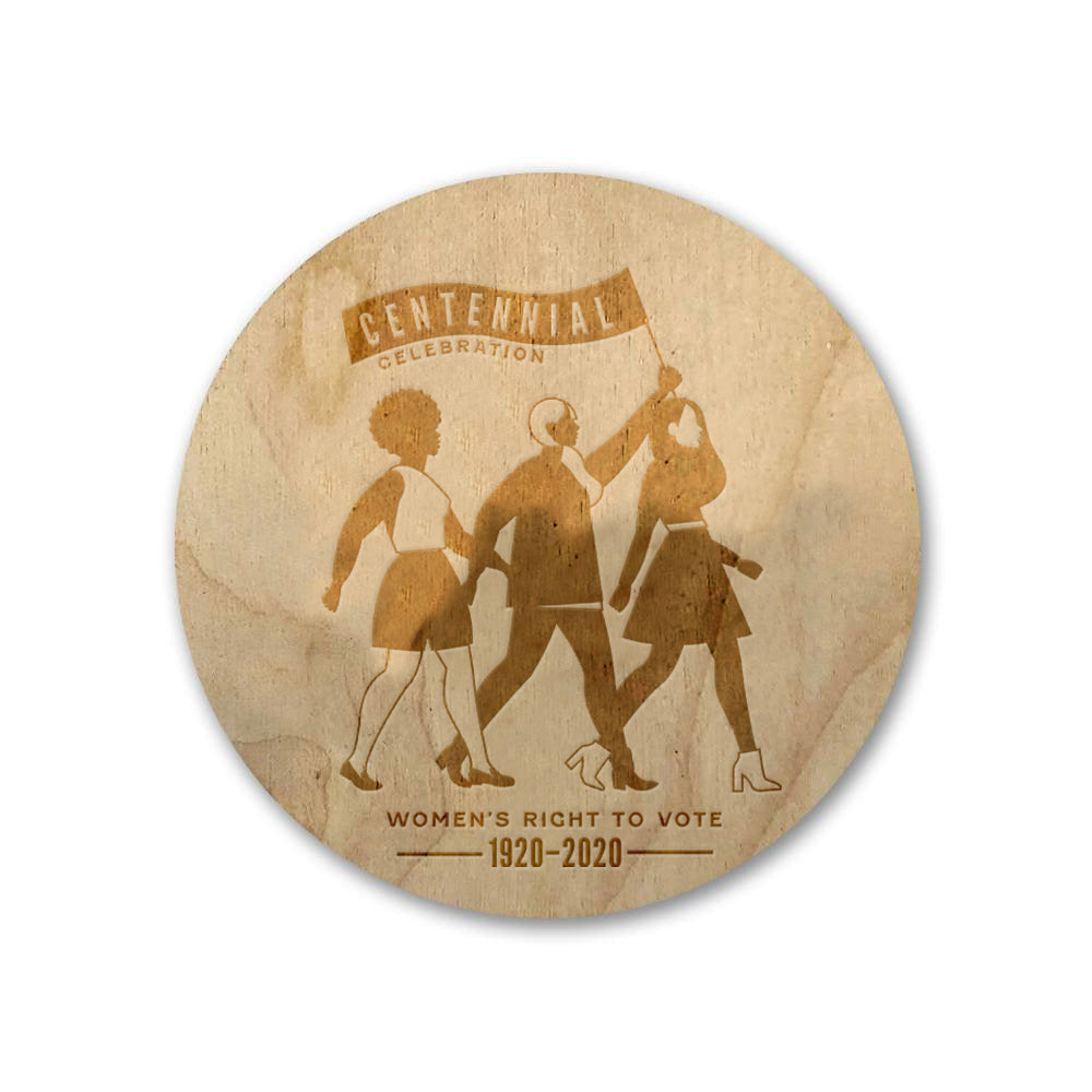 Centennial Celebration Wooden Magnet