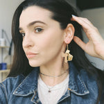 Mirrored Gold Texas Earrings