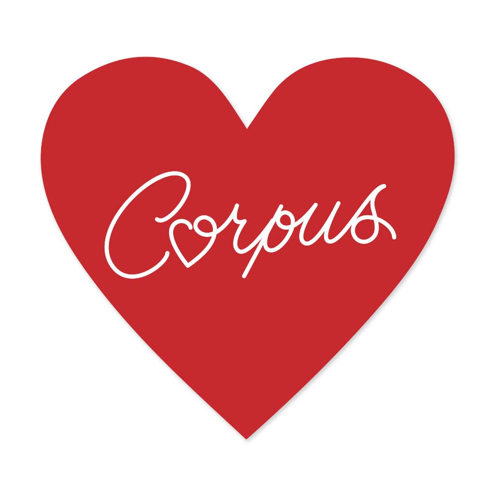 Corpus Valentine Heart Decal/Sticker