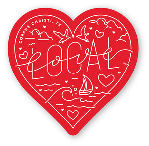 Local Love Heart Decal