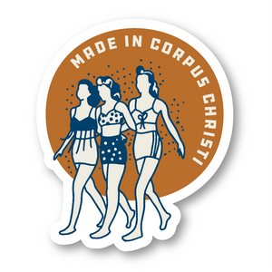 Made in Corpus Christi Girls Decal/Sticker
