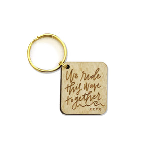 Ride This Wave Wooden Key Tag