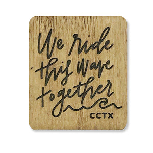 Ride This Wave Wooden Magnet