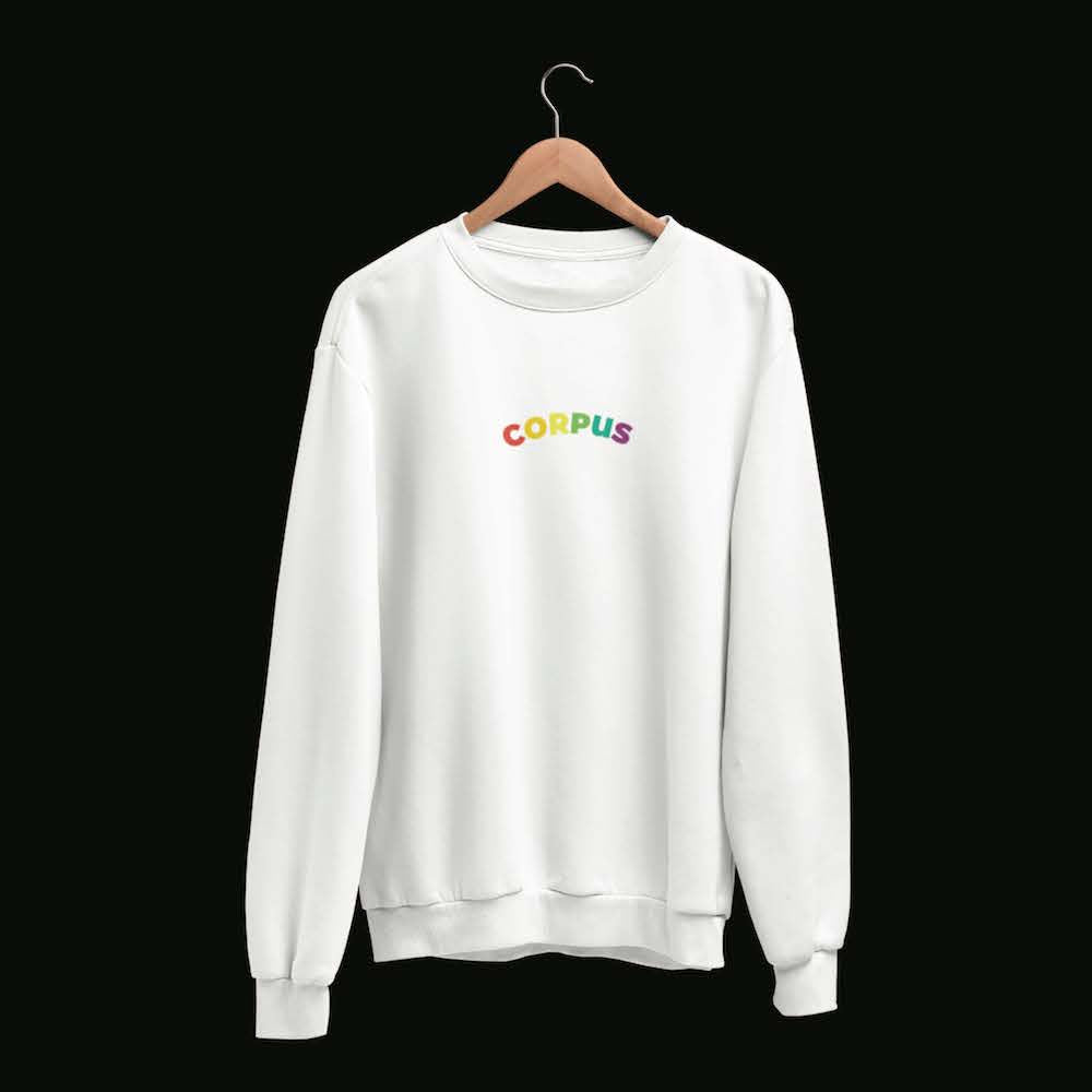 Corpus Rainbow Embroidered Crewneck