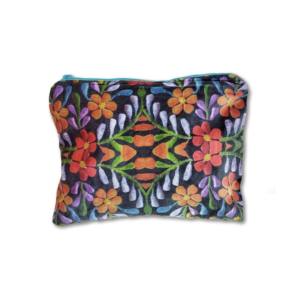 Bordado Print Makeup Bag