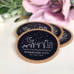 Sparkling City Coaster Set