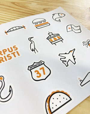 Corpus Christi Icon Sticker Set