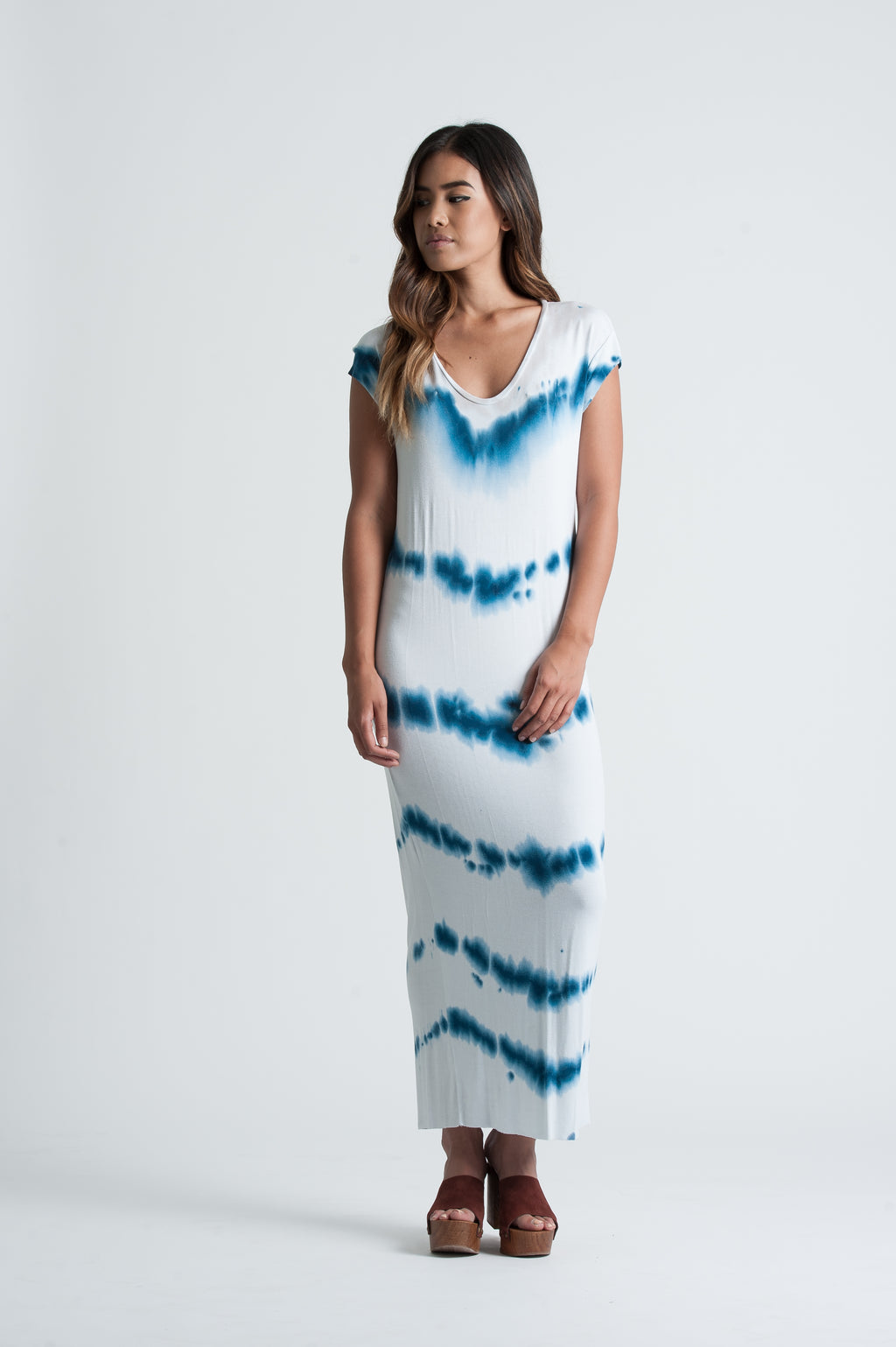 KENSY MAXI DRESS | BLUE TIE DYE
