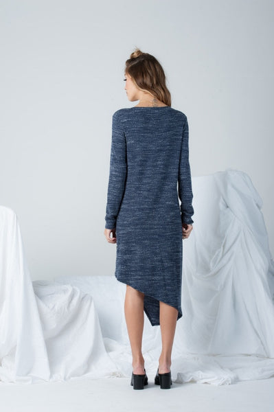 Nikita Asymmetrical Layered Dress in Navy