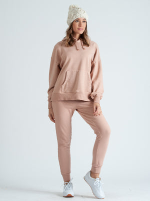 LONDON ROSE FRENCH TERRY JOGGER PANT