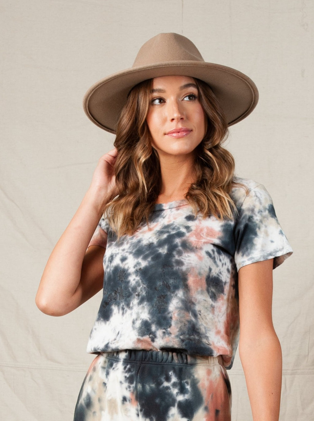 LIZZY TIE DYE T-SHIRT | MARBLE