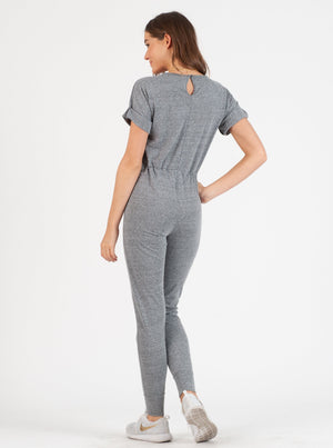ELLA JUMPSUIT in Heather Grey