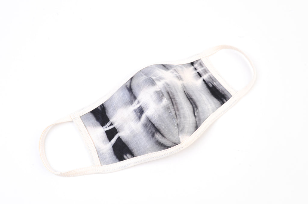 Grey Cream Tie Dye Mask