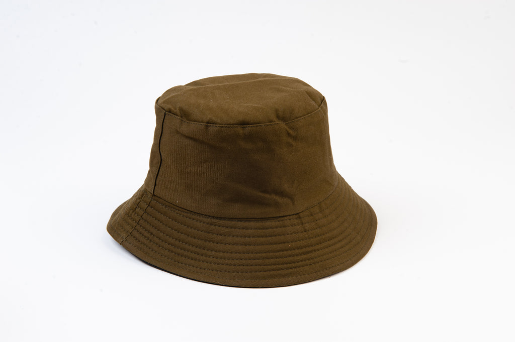 OLIVE REVERSIBLE BUCKET HAT