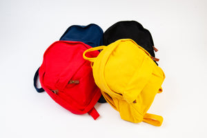 YELLOW CANVAS MINI BACKPACK