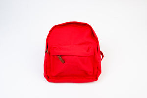 RED CANVAS MINI BACKPACK