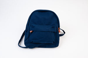 NAVY CANVAS MINI BACKPACK