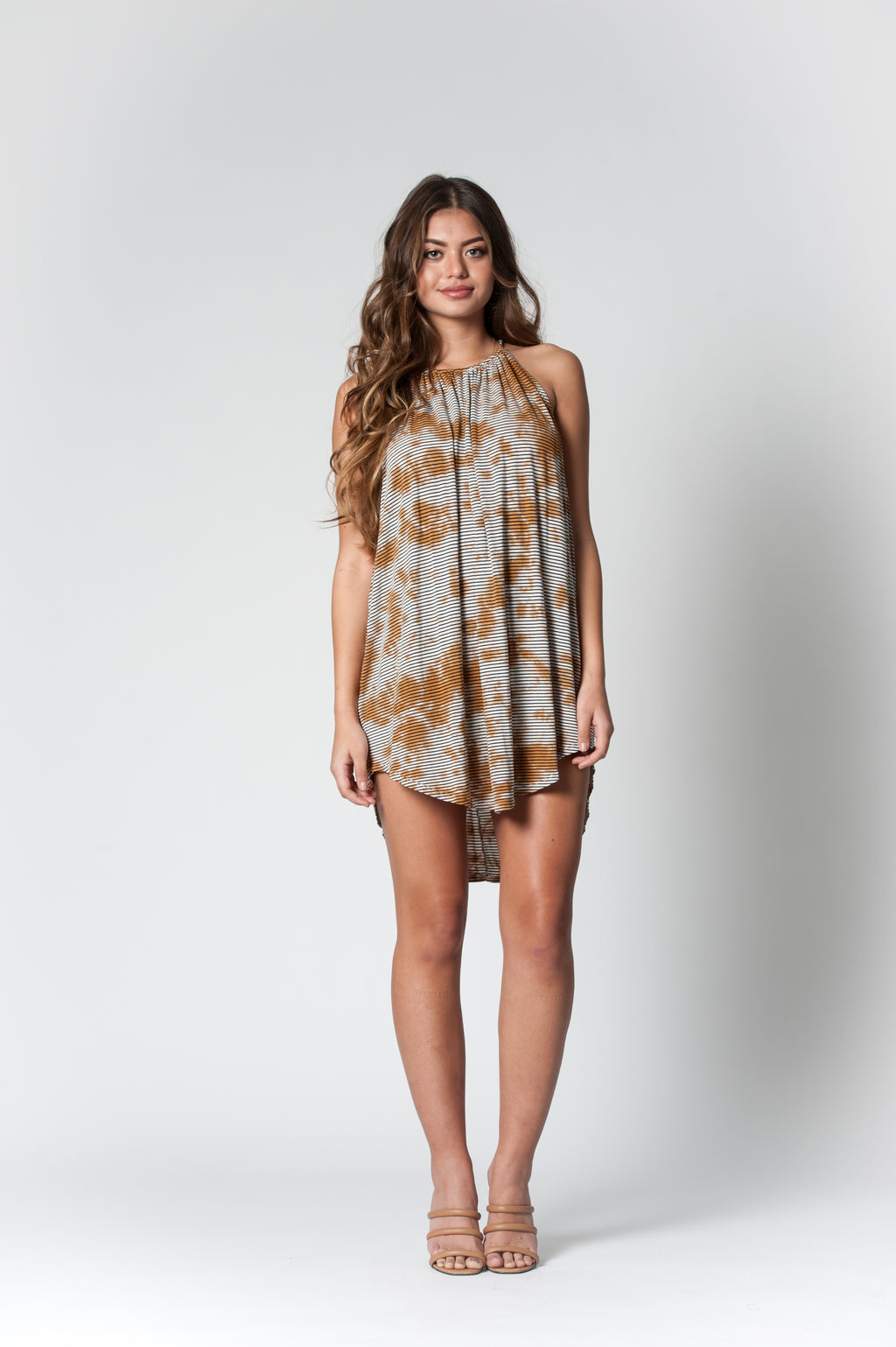 MEL HALTER NECK DRESS | RUSTY ISLAND TIE DYE