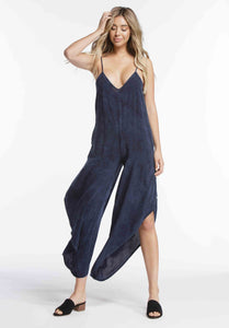 KIMBERLY WATERFALL LEG JUMPSUIT | SLATE BLUE
